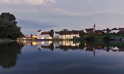 Stadtpanorama von Straubing Fototapete