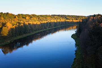 Nemunas, the largest river in Lithuania, near Alytus