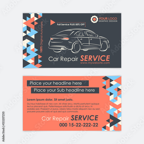 Automotive service business card template car diagnostics and automotive service business card template car diagnostics and transport repair create your own business reheart Choice Image