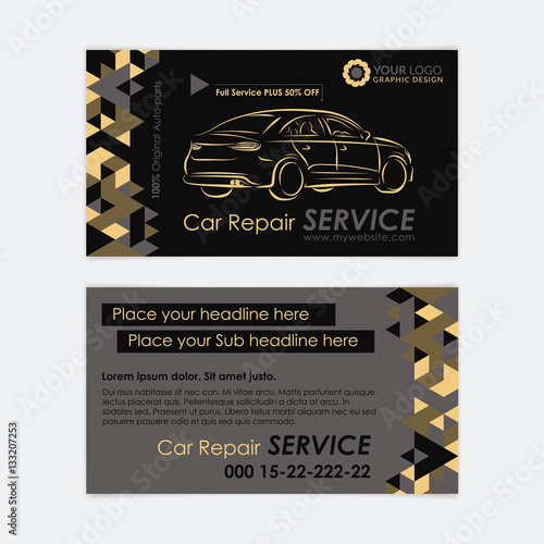 Automotive service business card template car diagnostics and automotive service business card template car diagnostics and transport repair create your own business friedricerecipe Image collections