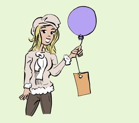 ballon meisje