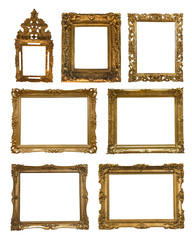 Collection of golden frames