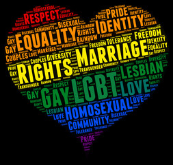 Gay rights concept word cloud ..