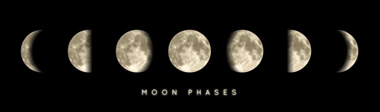 Phases lunaires vectorielles 1
