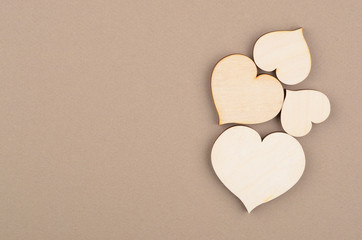 Heart on cardboard background