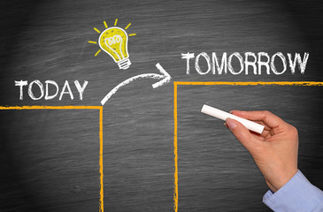 Great Idea Change and Evolution Concept - Today and Tomorrow