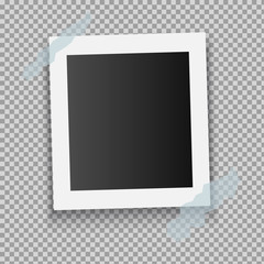 Photo Frame Isolated on Transparent Background. Vector illustration