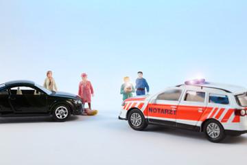 Fotograf und Schaulustige am Unfallort