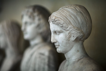 Antique Italian busts in the Vatican