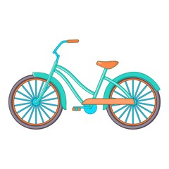 Bike icon, cartoon style