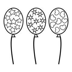 Balloons icon, outline style