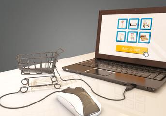 E-commerce, 3d rendering