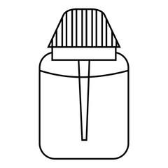 Big plastic jar icon, outline style