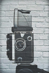 Art urbain, appareil photo