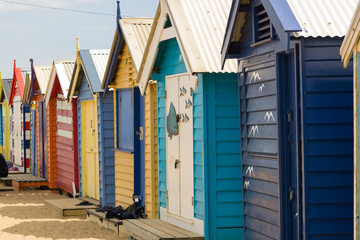 Bathing Boxes Dendy Beach, Melbourne, Australia