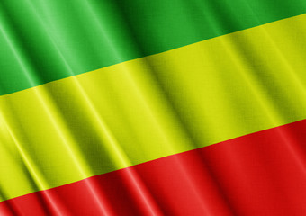 Rasta waving flag close
