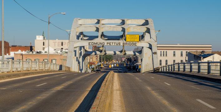 The Edmund Pettus Bridge, site of the Bloody Sunday attack in 1965 in Selma, Alabama