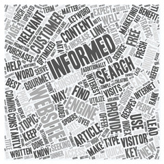 Provide Informative Free Articles To Increase Traffic Return Visits To Your Website text background wordcloud concept