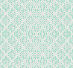 Seamless modern damask wallpaper pattern. Damask background. Seamfree ornamental backdrop.