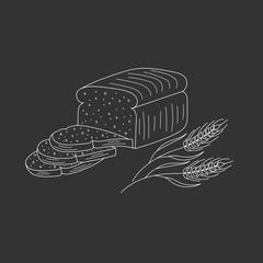 Sliced bread vector illustration.