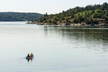 Canoe at Rörback, Munkeby near Uddevalla, Sweden