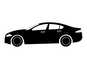 car icon. business sedan.