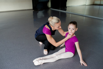 Dance coach, kids, stretching, choreography