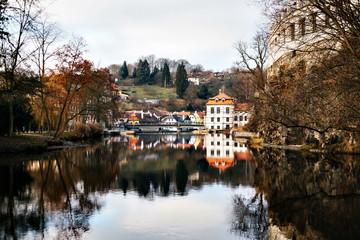 Beautiful view in Cesky Krumlov, Czech Republic