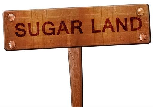 sugarland road sign, 3D rendering