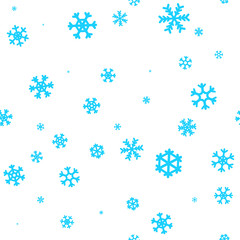 Snowflakes winter background. Christmas seamless vector pattern design for backdrop