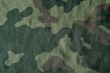 Camouflage pattern cloth texture