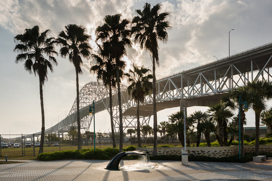 Harbor Bridge at Corpus Christi, Texas at the Gulf of Mexico