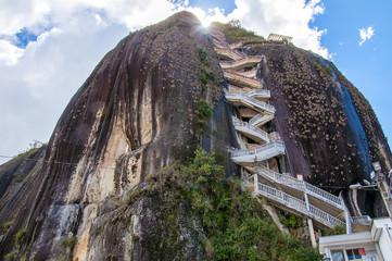 Rock of Guatape (Piedra de Penol) near to Medellin in Colombia