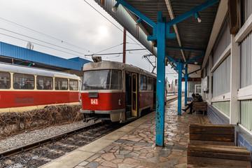Old vintage Tatra tram