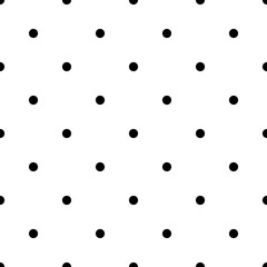 Seamless rockabilly polka dot vector pattern. Seamfree polkadot background wallpaper.