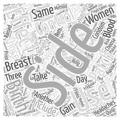Side Effects of Birth Control Word Cloud Concept