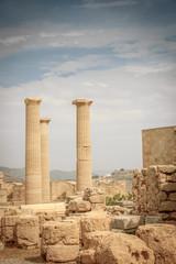 Athena temple in Acropolis of Lindos