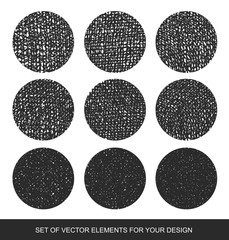Gradient shading vector elements. Collection isolated textures,