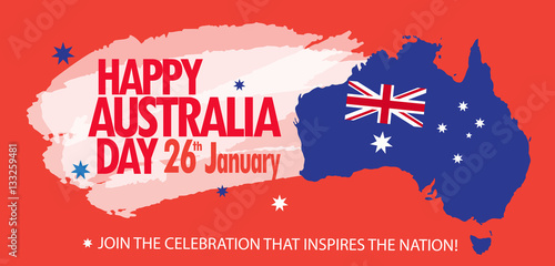 Australian Christmas Cards Free Download.Australia Day Poster With Map Of Australia And Australian