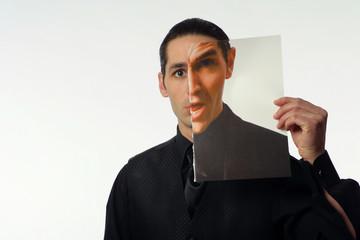 Holding Magazine of Himself