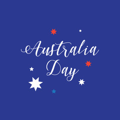 Happy Australia Day 26th January card. Holiday vector illustration. For Advertising, Traveling, Promotion, Celebration.