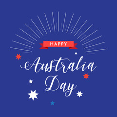 Happy Australia Day 26th January poster Holiday vector illustration. For Advertising, Traveling, Promotion, Celebration.