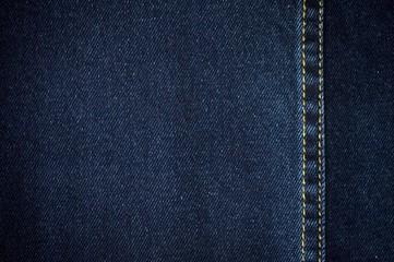 Blurry background of blue denim jeans texture