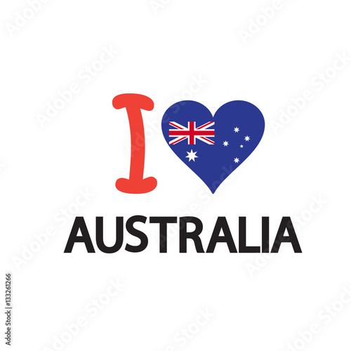 Australian Christmas Cards Free Download.Australia Day Poster With Heart Shape Of Australian Flag