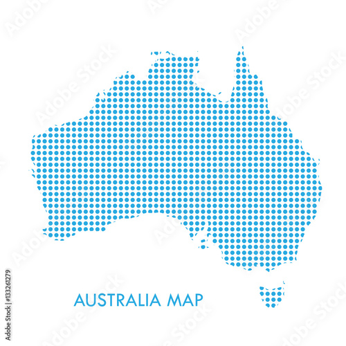 Australian Christmas Cards Free Download.Australia Dotted Map On White Background Vector