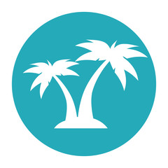 summer beach with palms vector illustration design