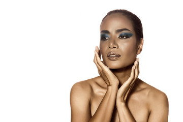 Beauty Makeup: Asian women with skin color pretty.