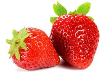 Erdbeeren isoliert auf weißem Hintergrund