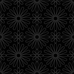 Oriental dark seamless pattern. Vector illustration.