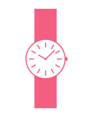 Woman wristwatch - vector illustration.